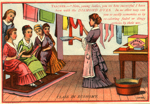 Advertising card for Diamond Dyes