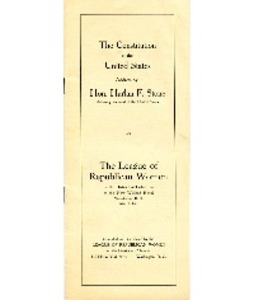 Address about the Constitution by Harlan Fiske Stone