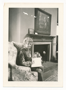 Winifred Sayer in Robert Frost Room
