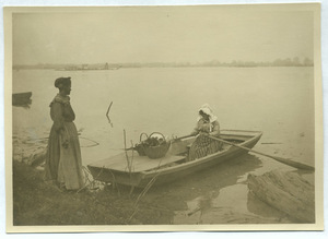 Black woman rowing home in Vicksburg, Mississippi