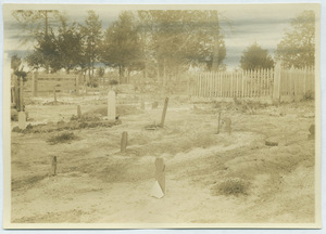 Black cemetery in Tuskegee, Alabama