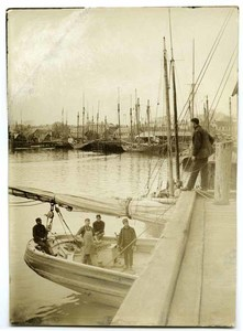 A harbor view of the boats and docks