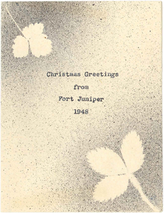 Christmas Greetings from Fort Juniper, 1948