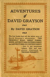 Adventures of David Grayson book cover