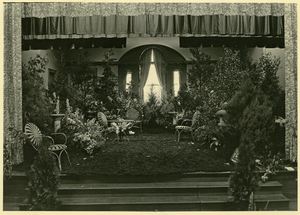 Flower show in Jones Library auditorium
