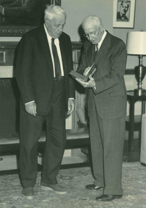 Robert Frost with Charles R. Green