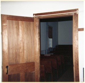 Meetinghouse interior, North Dartmouth Monthly Meeting