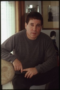 Paul Simon at his office in the Brill Building