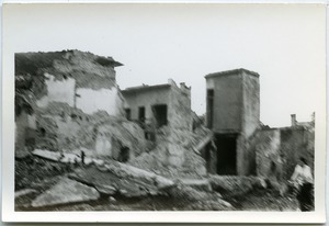 Bombing ruins in Thái Bình City