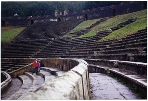 Sandi and Maya Sommer at the Amphitheatre of Pompei