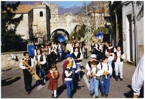 Celebration of Le Befana (the twelfth day of Christmas) in Ravello