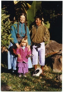Sandi and Maya Sommer, with unidentified friend