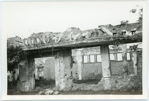Ruins of bombed building, Thái Bình