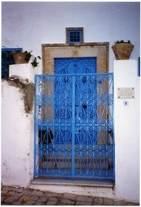 Blue door and gate, Sidi Bou Said