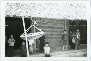 Children in village in Thái Bình province