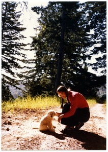 Sandi Sommer with Maya dog as puppy