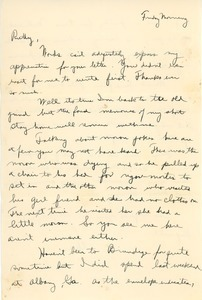 Letter from Abraham Ozersky to Ruth Newman