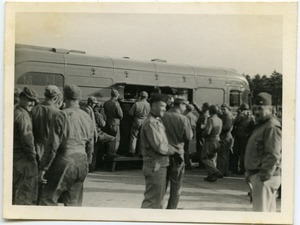 Mealtime at an American Red Cross Clubmobile