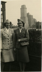 Gladys Jones and Maida L. Riggs in New York City
