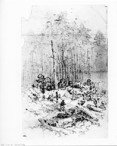 A Day among the Pickets on the Line (Siege of Petersburg)