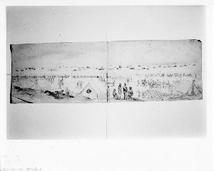 Siege of Charleston - View of the Union Fleet off Morris Island, South Carolina