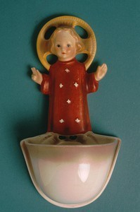 Christ Child holy water font