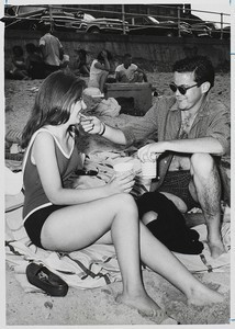 A beach party during Senior Week 1963