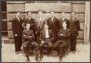 B.C. Class of 1910. Front, 3rd from L. Charles A. Birmingham '10