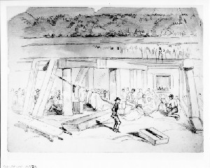 Bombproof of Fort Fisher Used as a Hospital for Rebel Prisoners (Capture of Wilmington)