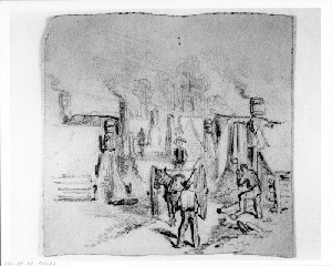 Camp Sketches: Soldiers' Winter Quarters (Siege of Petersburg)