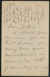 Letter, Oliver Hereford to James Jeffrey Roche