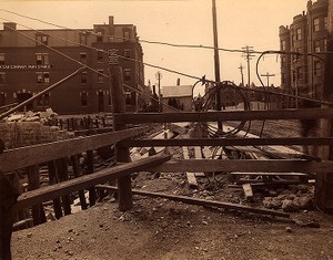 Construction site on the corner of West Chester Park and Newbury Street