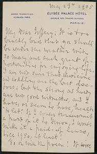 Letter, May 23, 1905, Henry Watterson to James Jeffrey Roche