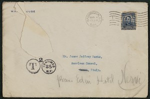 Envelope, March 4, 1905, Theodore Roosevelt to James Jeffrey Roche