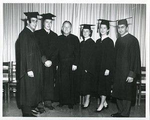 Walsh, Michael, with graduates