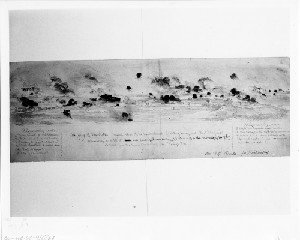 Siege of Charleston -General View of the Bombardment of Battery Gregg and Fort Wagner