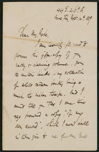 Letter, November 12, 1889, E. C. Stedman to James Jeffrey Roche