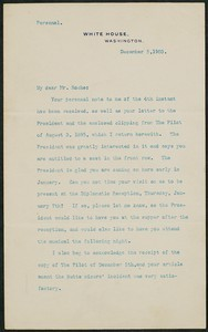 Letter, December 5, 1903, Theodore Roosevelt to James Jeffrey Roche