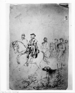 General Asboth and Staff on Horseback