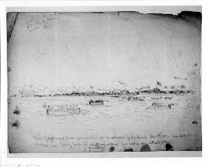 View of Hilton Head after Evacuation by the Rebels