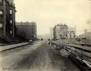 View of St. James Avenue looking towards Park Square