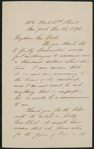 Letter, December 26, 1894, Daniel Chester French to James Jeffrey Roche