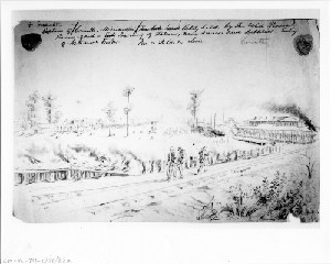 Evacuation of Corinth, Mississippi by the Rebels