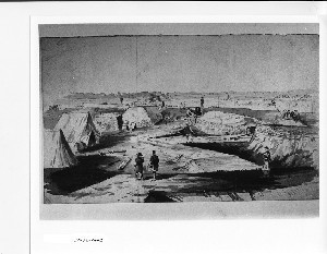 Interior view of part of fortifications surrounding Yorktown