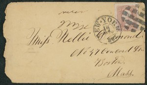 Envelopes addressed to Nellie Desmond