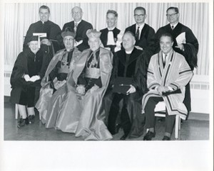 Cushing, Richard and Michael Walsh with honorary degree recipients