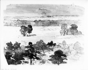 Sketches on the Left of the Line (Siege of Petersburg)