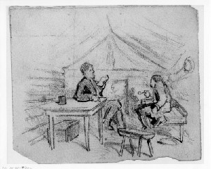 Interior of Soldier's Hut (Siege of Petersburg)