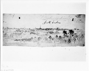 Columbia, South Carolina, Sketched from Camp Sorgum