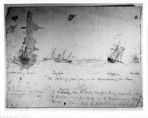 Burnside Expedition: The Blockading Fleet Joining in the Bombardment of Fort Macon